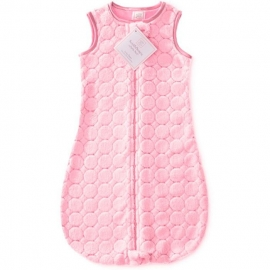 Детский спальный мешок SwaddleDesigns zzZipMe 3-6 М Pink Puff Circles
