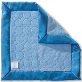 Платочек обнимашка Baby Lovie-плюшевая нежность Blue Puff Circle