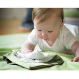 Платочек обнимашка Baby Lovie-плюшевая нежность Yellow Puff Circle