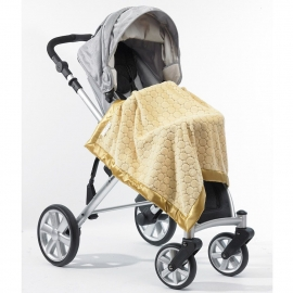 Плед детский SwaddleDesigns Stroller Blanket Gold Puff Circle