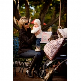 Плед детский SwaddleDesigns Stroller Blanket Truffle Puff Circle