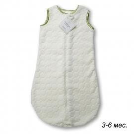 Детский спальный мешок SwaddleDesigns zzZipMe 3-6 М Ivory Puff w/Kiwi