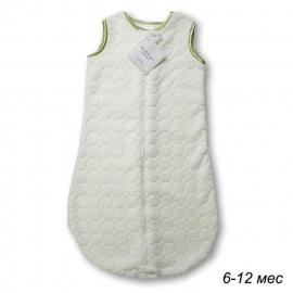 Детский спальный мешок SwaddleDesigns zzZipMe 6-12 М Ivory Puff w/Kiwi