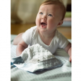 Комфортер платочек обнимашка Baby Lovie SwaddleDesigns плюшевая нежность Ivory Puff w/Kiwi