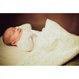 Плед для новорожденного Organic Stroller Blanket Ivory w/PP Mod C