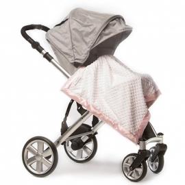 Плед детский флис SwaddleDesigns Stroller Blanket WH Plush/PK Velvet
