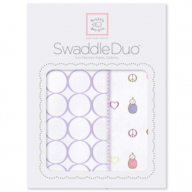 Набор пеленок SwaddleDesigns Swaddle Duo L Peace/LV/SW