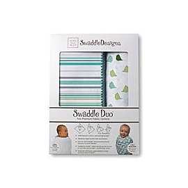 Наборы пеленок SwaddleDesigns Swaddle Duo Stripes URB + Little Chickies MSB