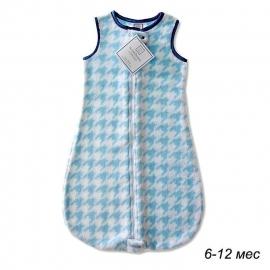 Детский спальный мешок SwaddleDesigns zzZipMe 6-12 М Blue Puppytooth