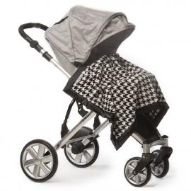 Плед детский SwaddleDesigns Stroller Blanket BK Puppytooth