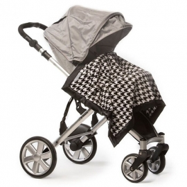 Плед детский SwaddleDesigns Stroller Blanket VB Puppytooth