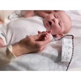 Фланелевая пеленка для новорожденного SwaddleDesigns Слоники с птичками голубая