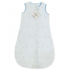 Детский спальный мешок SwaddleDesigns zzZipMe Sack (12-18) Blue/Sterling Deco Elephant