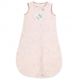 Детский спальный мешок SwaddleDesigns zzZipMe Sack (12-18) Pink/Srerling Deco Elephant