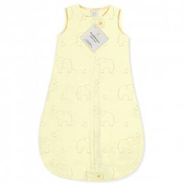 Детский спальный мешок SwaddleDesigns zzZipMe Sack (12-18) Yellow/Sterling Deco Elephant