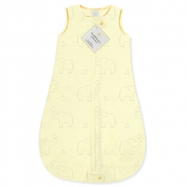 Детский спальный мешок SwaddleDesigns zzZipMe Sack (3-6) Yellow/Sterling Deco Elephant