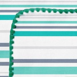 Пеленка фланель для новорожденного SwaddleDesignsTurquoise Stripe