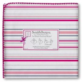 Пеленка фланель для новорожденного SwaddleDesigns Very Berry Stripe