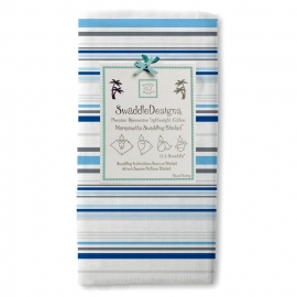 Пеленка детская тонкая SwaddleDesigns Маркизет TB Stripes