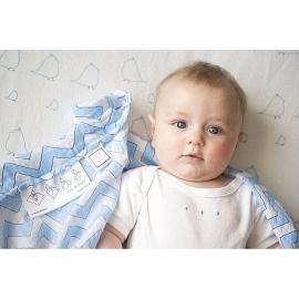Пеленка детская тонкая SwaddleDesigns Маркизет BL/Sterling Lt Dot