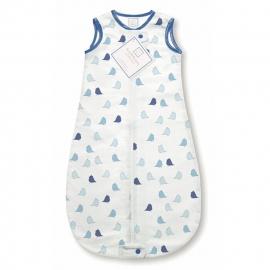 Спальный мешок для новорожденного SwaddleDesigns zzZipMe Sack 3-6M Flannel TB Lt Chickies