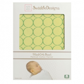 Детская простынь Fitted Crib Sheet Pure Green Mod