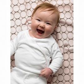 Детская простынь Fitted Crib Sheet Turquoise Stripe