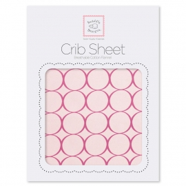 Детская простынь Fitted Crib Sheet Very Berry Mod