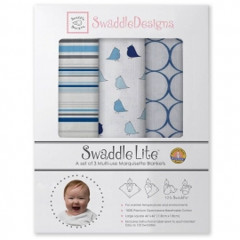 Набор пеленок SwaddleDesigns SwaddleLite Jewel Tone True Blue