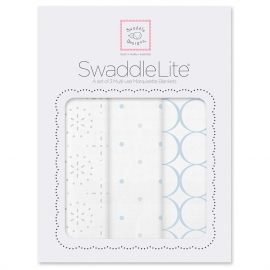 Набор пеленок SwaddleDesigns SwaddleLite Sparklers Blue