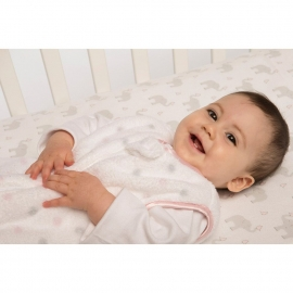 Детская простынь Fitted Crib Sheet Pink Chickies