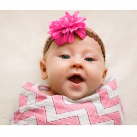 Пеленка детская тонкая SwaddleDesigns Маркизет Pink Chevron Chevron