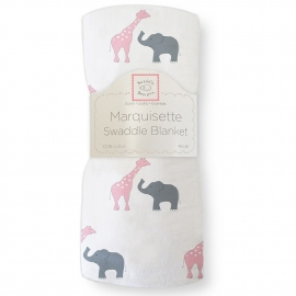 Пеленка детская тонкая SwaddleDesigns Маркизет P Giraffe/Elephant