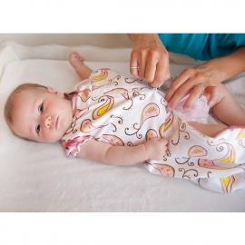 Спальный мешок для новорожденного SwaddleDesigns zzZipMe Sack 3-6M Flannel PY Elephant & Chickies