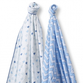 Набор пеленок SwaddleDesigns Swaddle Duo BL Chickies/Chevron