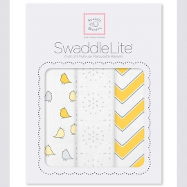 Набор пеленок SwaddleDesigns SwaddleLite Yellow Chevron Lite