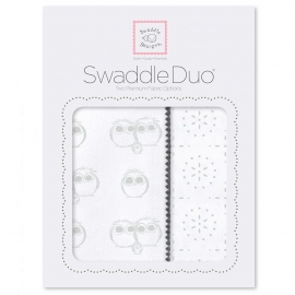 Набор пеленок SwaddleDesigns Swaddle Duo Serling Pstl Baby Owls