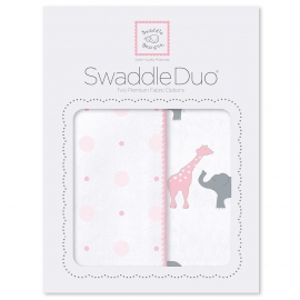 Набор пеленок SwaddleDesigns Swaddle Duo Pink Circus Fun