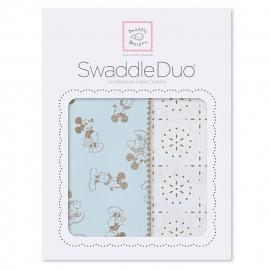 Набор пеленок SwaddleDesigns Swaddle Duo TG/PB Mickey