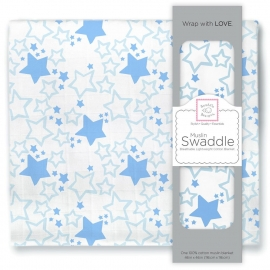 Пеленка муслиновая SwaddleDesigns Blue Starshine