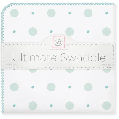 Фланелевая пеленка для новорожденного SwaddleDesigns SC Big Dot Lt Dot