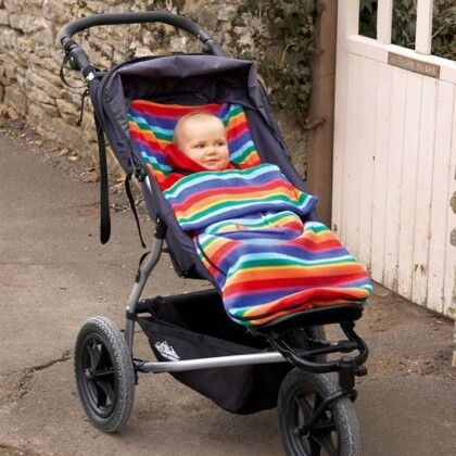 Флисовый конверт Buggysnuggle Bright Stripe Fleece