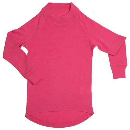 Водолазка из шерсти мериноса ярко-розовая (размер 4-5 лет)