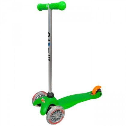 Самокат Mini Micro зеленый для детей от 1,5 до 5 лет