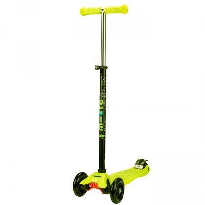 Самокат Maxi Micro T желтый для детей от 5 до 12 лет