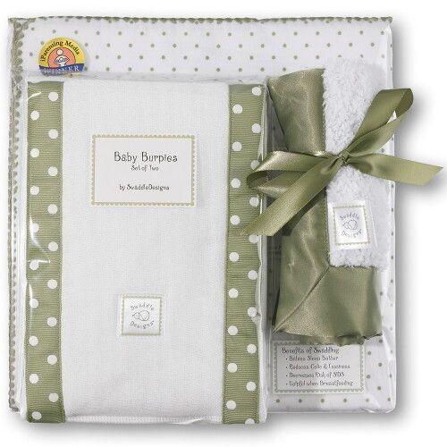 Подарочный набор для новорожденного Gift Set Sage Polka Dot