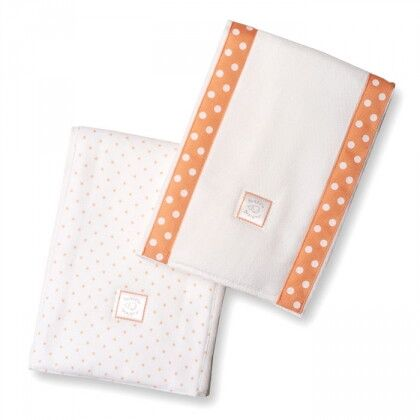 Полотенчики SwaddleDesignи Baby Burpie Set Orange Dot