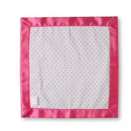 Комфортер платочек обнимашка Baby Lovie - Flannel Fushia Dot