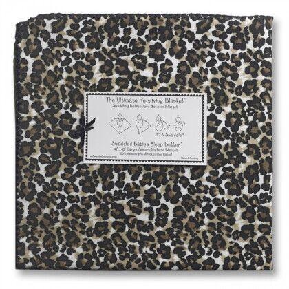 Фланелевая пеленка для новорожденного SwaddleDesigns Baby Cheetah