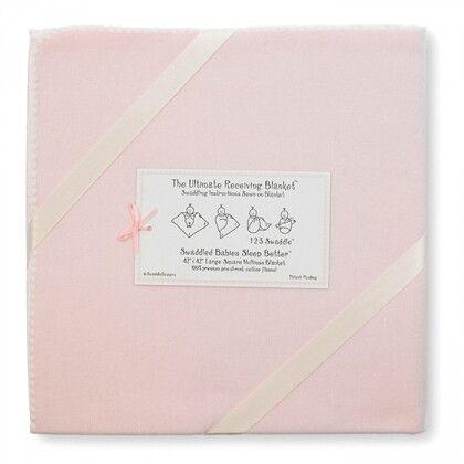 Фланелевая пеленка для новорожденного SwaddleDesigns Pink w/Barely IV